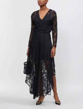 MAJE Riletta Lace Black Dress