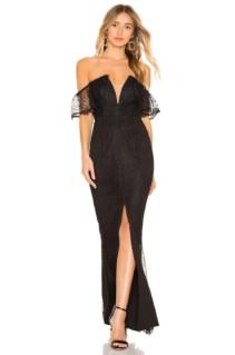 MAJORELLE Ana Clara Black Gown