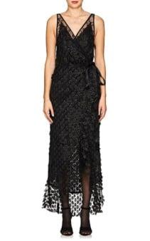 MANNING CARTELL Supreme Extreme Embellished Wrap Black Dress