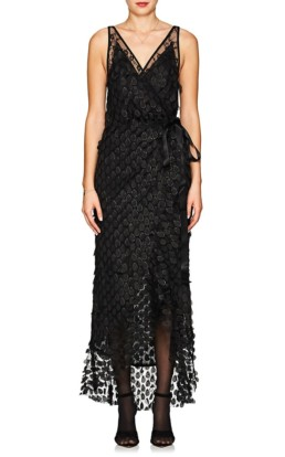 MANNING CARTELL Supreme Extreme Embellished Wrap Black Dress