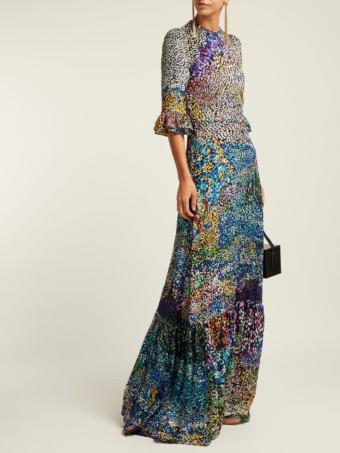 MARY KATRANTZOU Mount Millais Silk-Blend Devoré Multi Gown 3