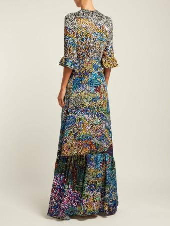 MARY KATRANTZOU Mount Millais Silk-Blend Devoré Multi Gown 4