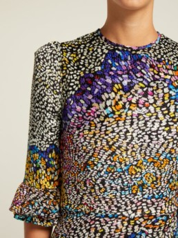 MARY KATRANTZOU Mount Millais Silk-Blend Devoré Multi Gown 5
