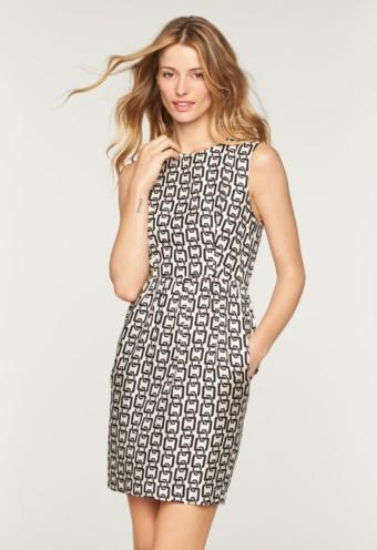 MILLY Chain Print Miranda White / Black Dress