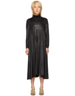 MM6 MAISON MARGIELA Stretch Turtleneck Black Dress