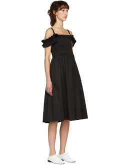 MOLLY GODDARD Paula Black Dress
