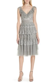 NEEDLE & THREAD Cinderella Cami Grey Dress