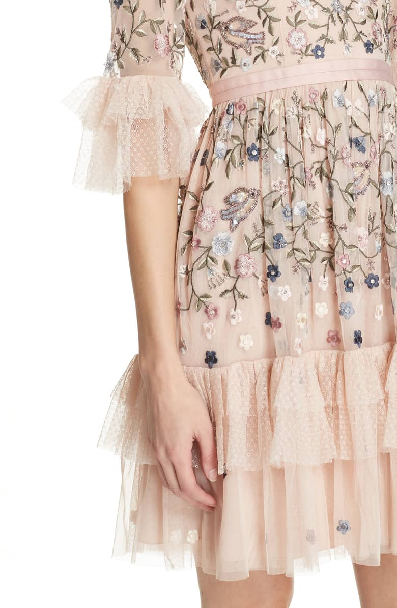 2295b2a87101 NEEDLE & THREAD Dusk Floral Rose Dress - We Select Dresses