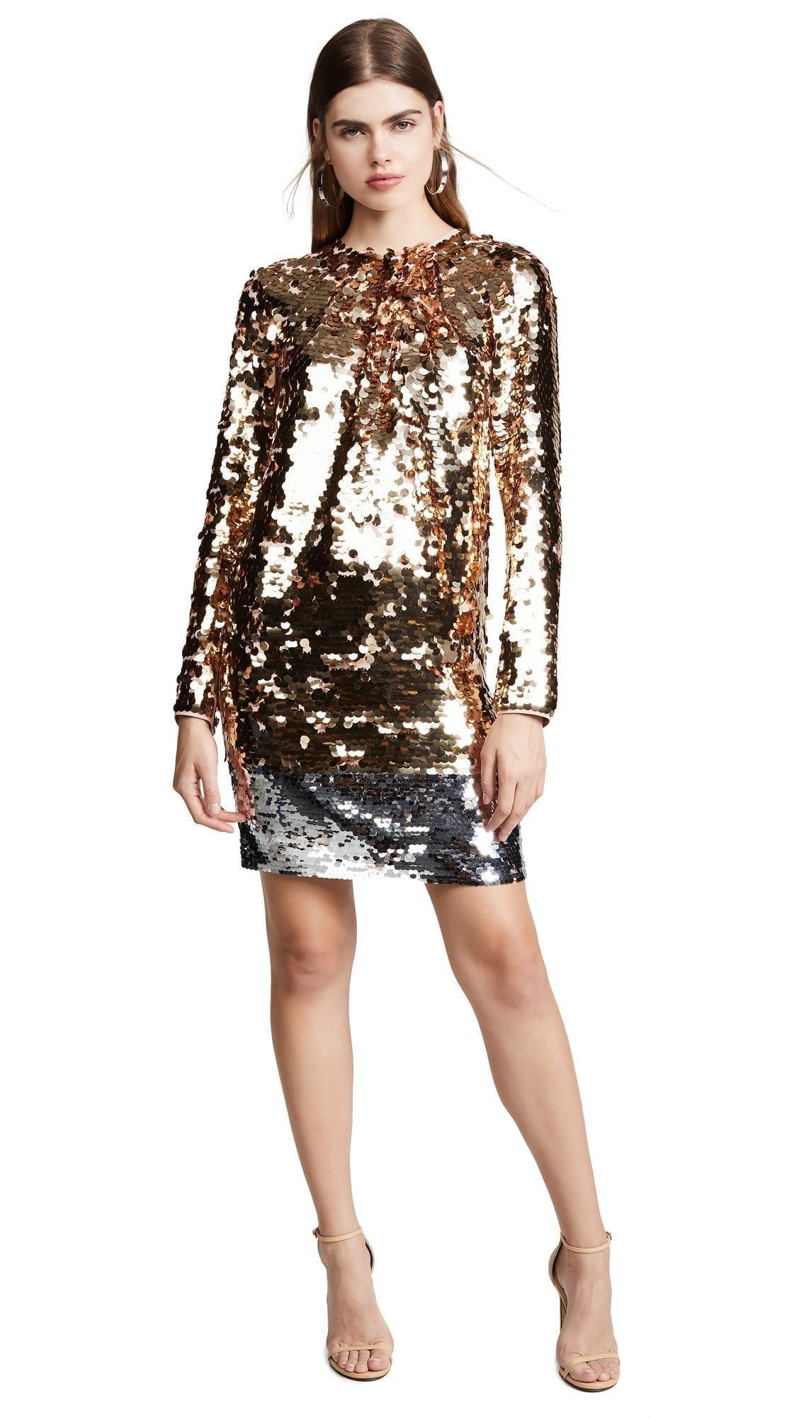 NO. 21 Sequin Mini Multicolored Dress