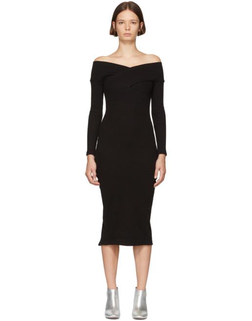 OPENING CEREMONY Bodycon Midi Black Dress