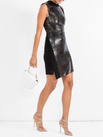 PACO RABANNE Sequinned Black Dress