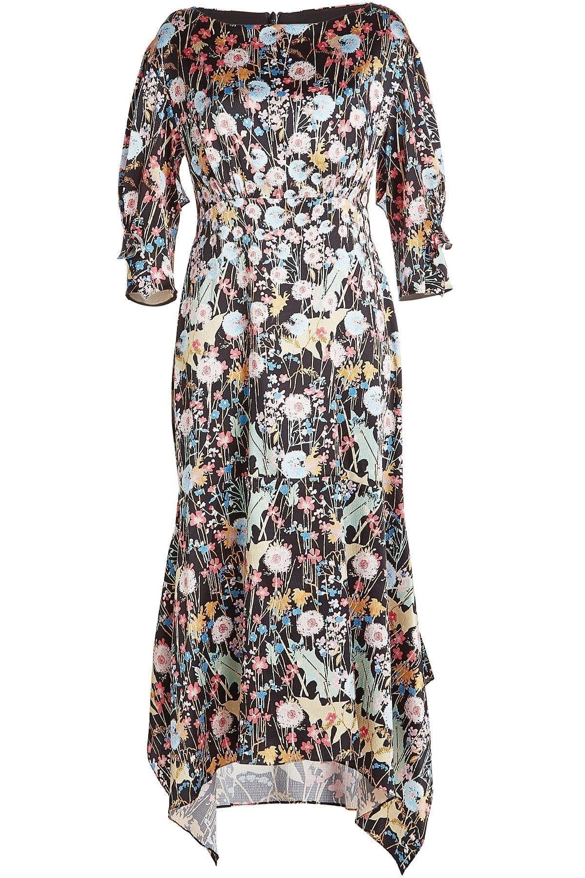 Peter pilotto silk floral printed multicolored dress we select dresses peter pilotto silk multi printed dress mightylinksfo
