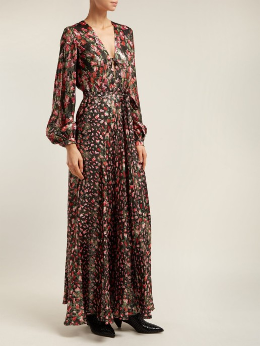 RAQUEL DINIZ Geena Silk Maxi Black Dress