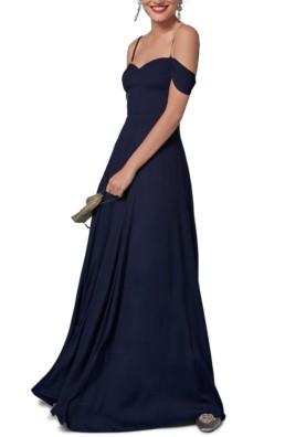 REFORMATION Poppy Maxi Navy Dress