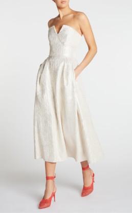 ROLAND MOURET Aldrich Champagne Dress