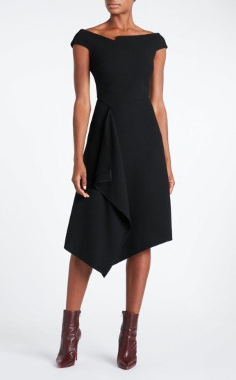ROLAND MOURET Barwick Black Dress