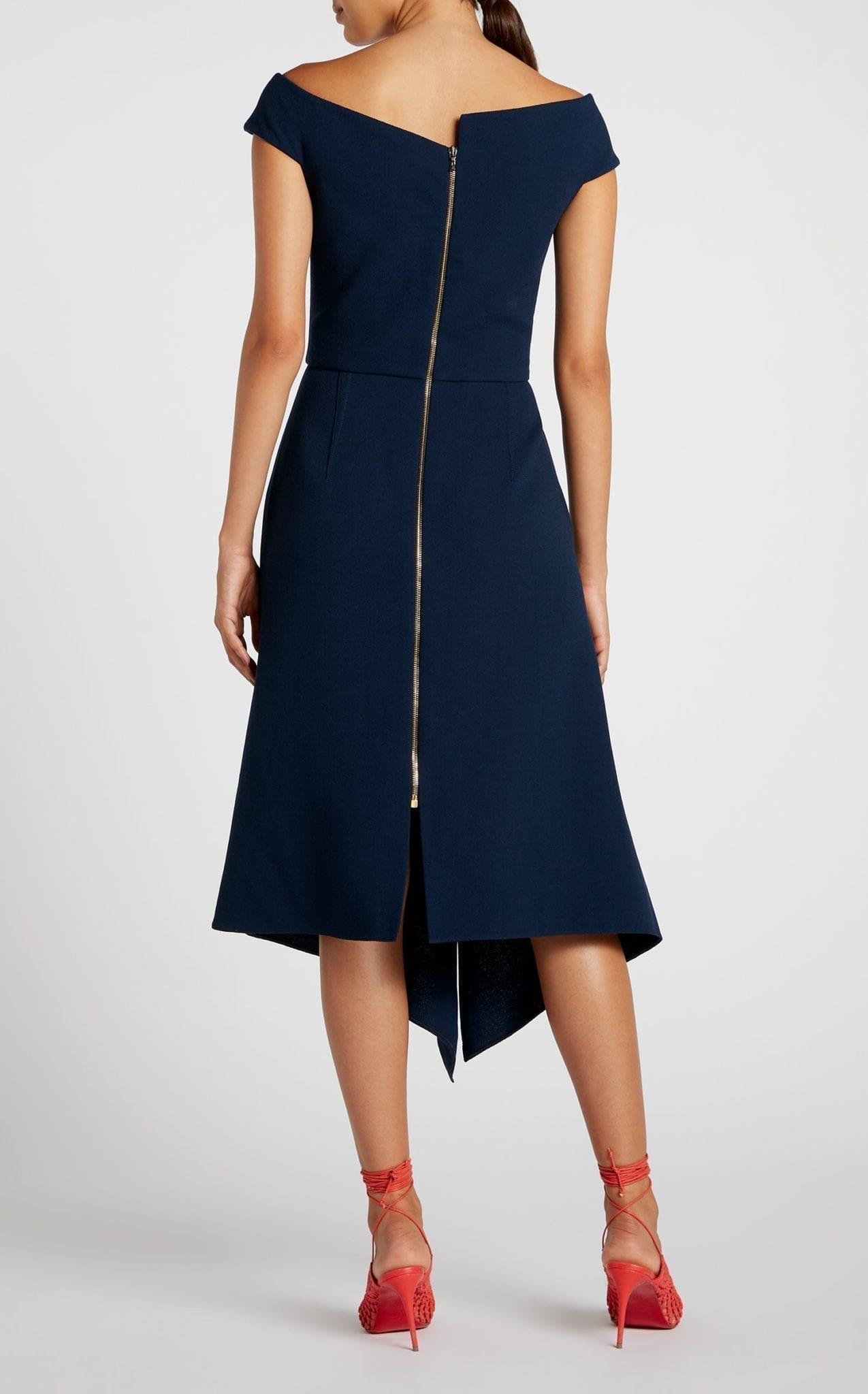ROLAND MOURET Barwick Navy Dress 4