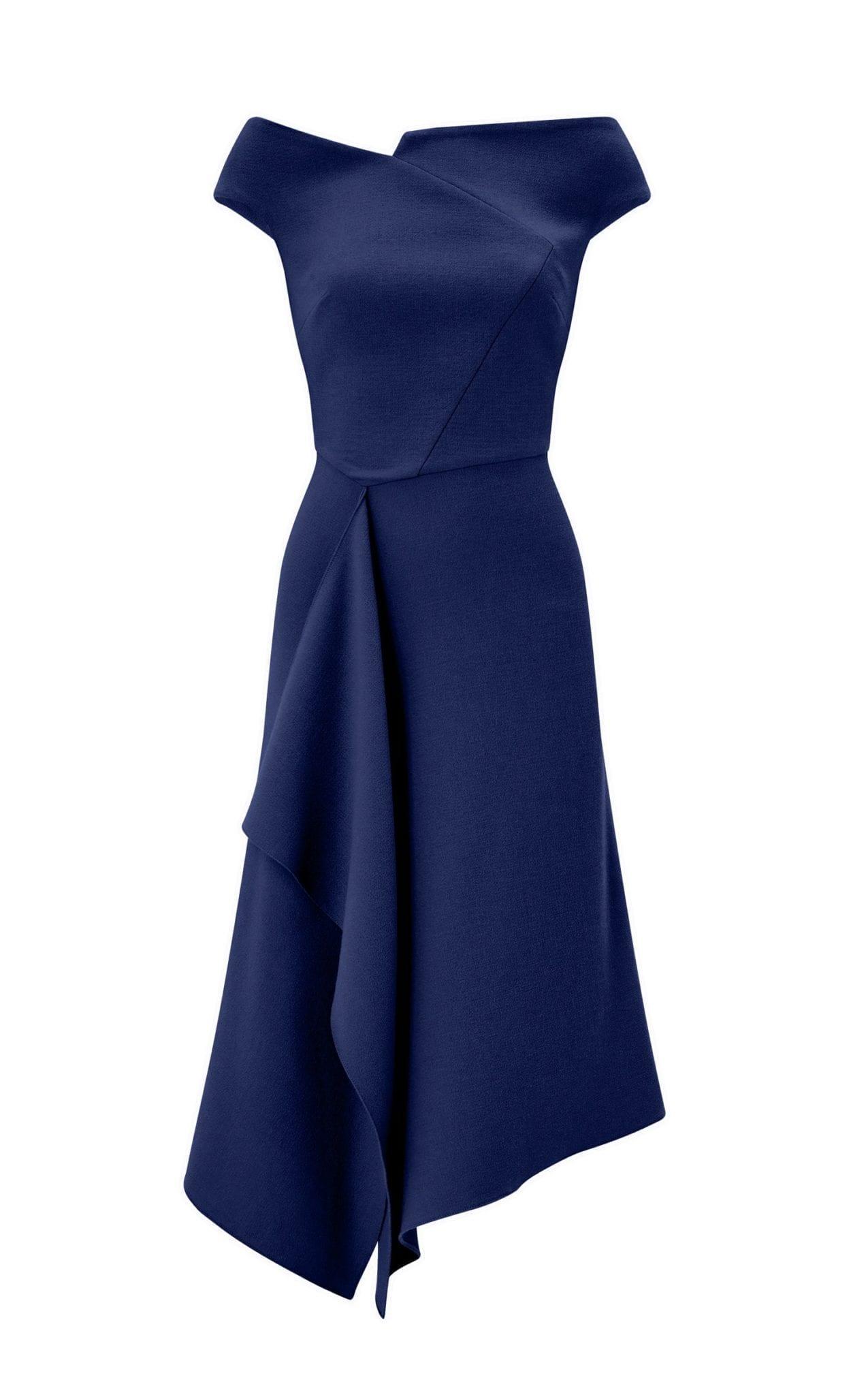 ROLAND MOURET Barwick Navy Dress 5