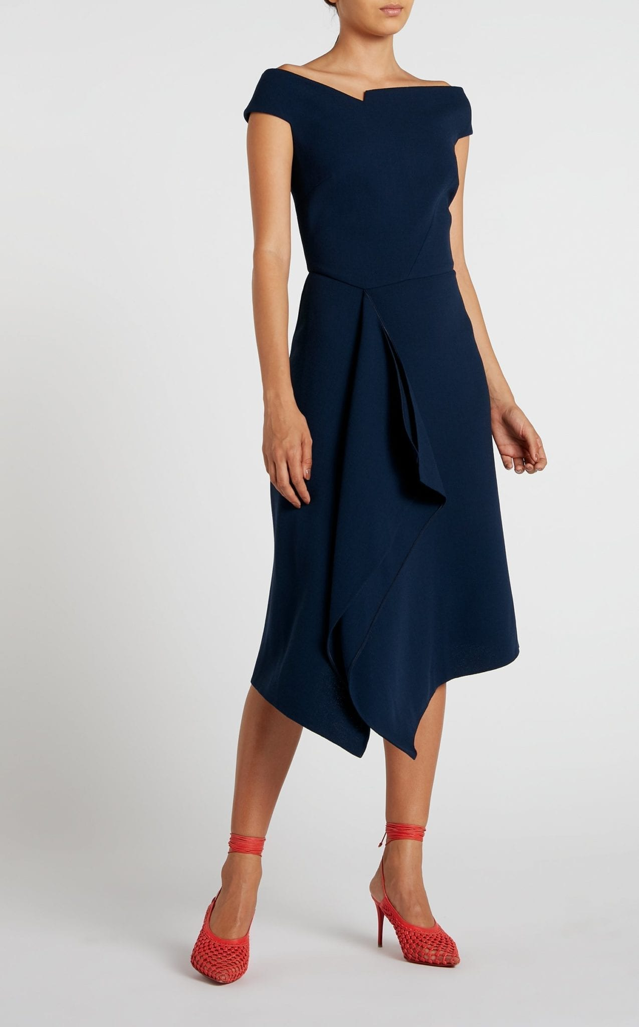 ROLAND MOURET Barwick Navy Dress