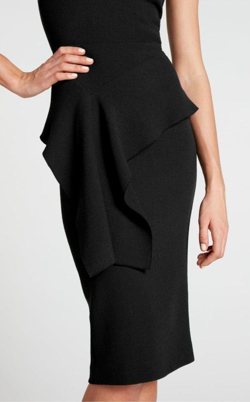 ROLAND MOURET Dandridge Black Dress 2