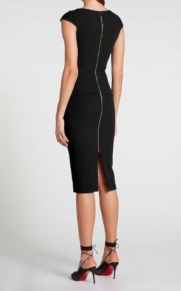 ROLAND MOURET Dandridge Black Dress 3