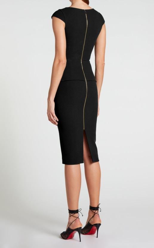 ROLAND MOURET Dandridge Black Dress 3
