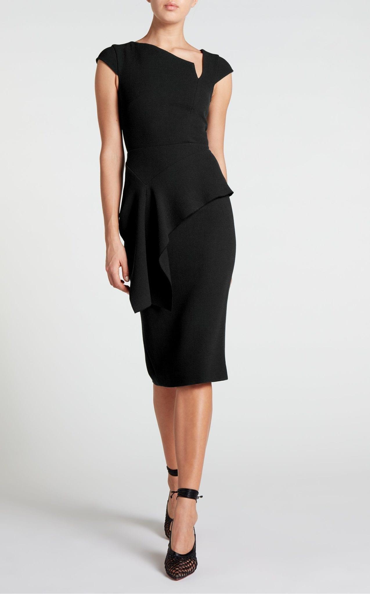 ROLAND MOURET Dandridge Black Dress