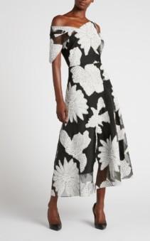 ROLAND MOURET Emery Black Dress