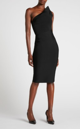 ROLAND MOURET Hepburn Black Dress