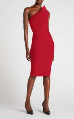 ROLAND MOURET Hepburn Red Dress