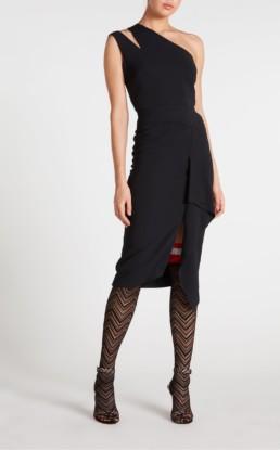 ROLAND MOURET Jagger Black Dress