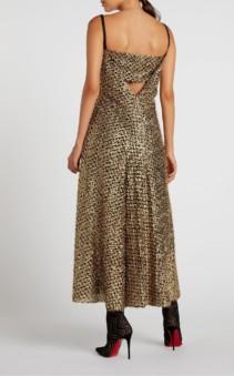 ROLAND MOURET Mallick Gold Dress 3