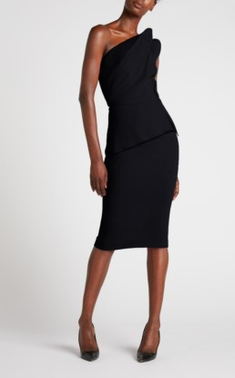 ROLAND MOURET Mendes Black Dress