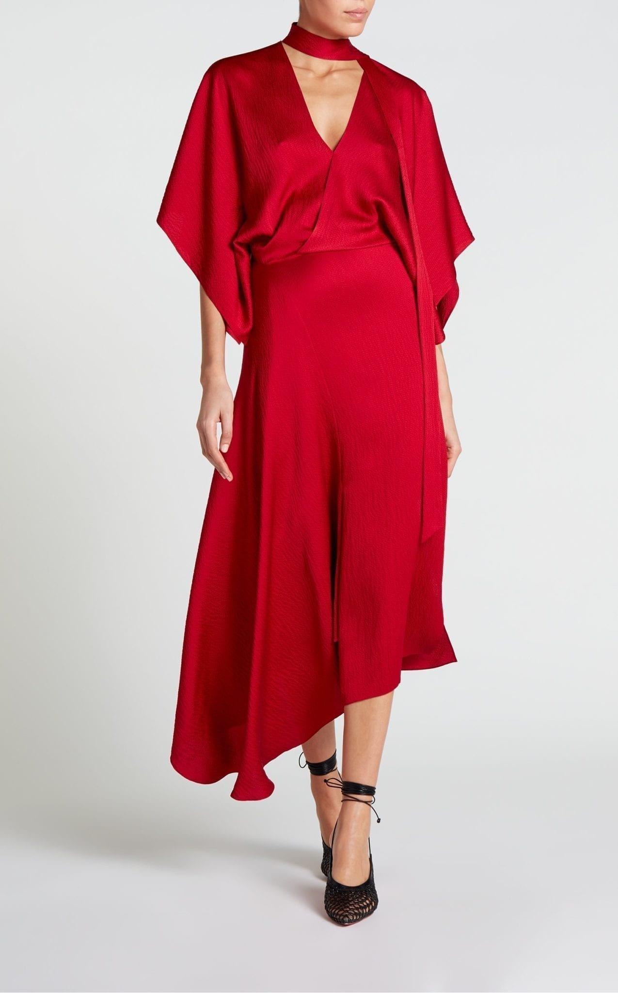 ROLAND MOURET Meyers Red Dress