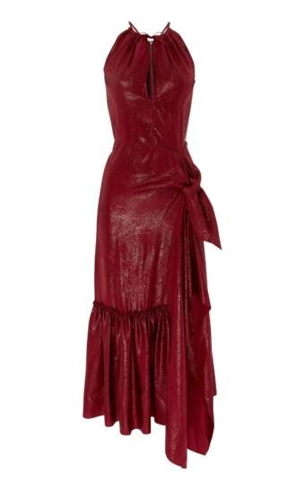 ROLAND MOURET Miranda Merlot Dress 4