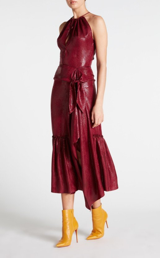 ROLAND MOURET Miranda Merlot Dress