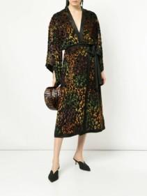 SALONI-Rainbow-Leopard-Black-Dress
