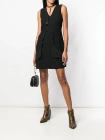 SEE-BY-CHLOÉ-Lace-Trim-Black-Dress