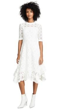 SEE BY CHLOE Asymmetrical Hem White Dress