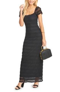 SHOW ME YOUR MUMU Stella Empire Waist Black Gown
