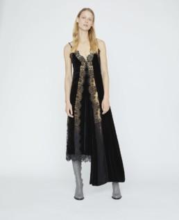 STELLA MCCARTNEY Andie Velvet Black Dress
