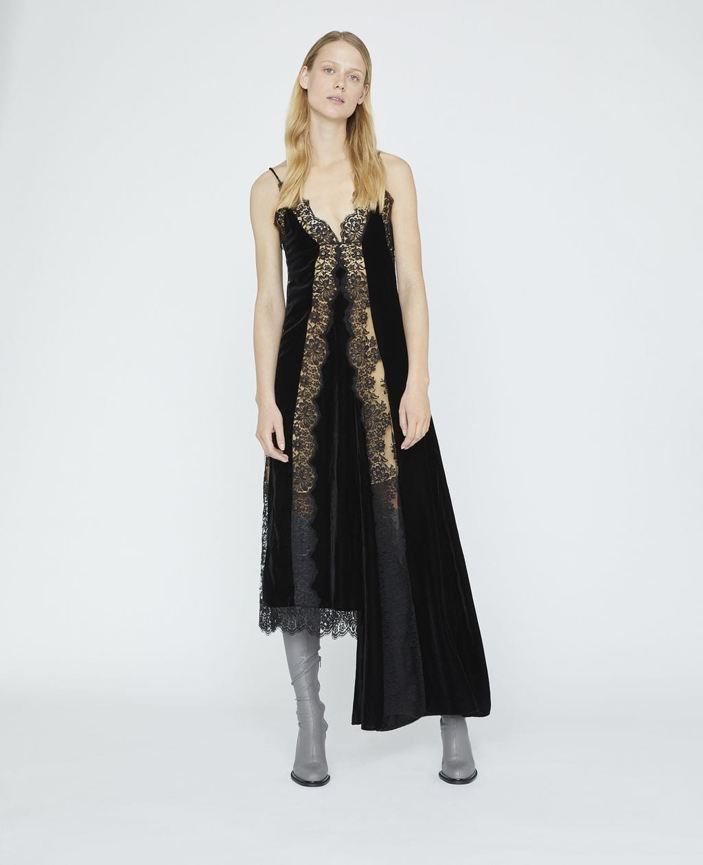 STELLA MCCARTNEY Andie Velvet Black Dress