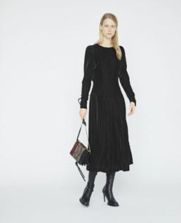 STELLA MCCARTNEY Marina Velvet Black Dress
