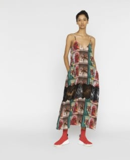 STELLA MCCARTNEY Sleeveless Flower Print Multi Dress