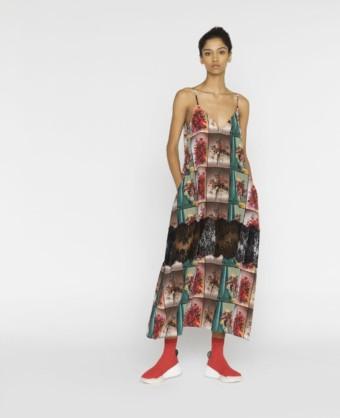 STELLA MCCARTNEY Sleeveless Flower Print Multi Dress