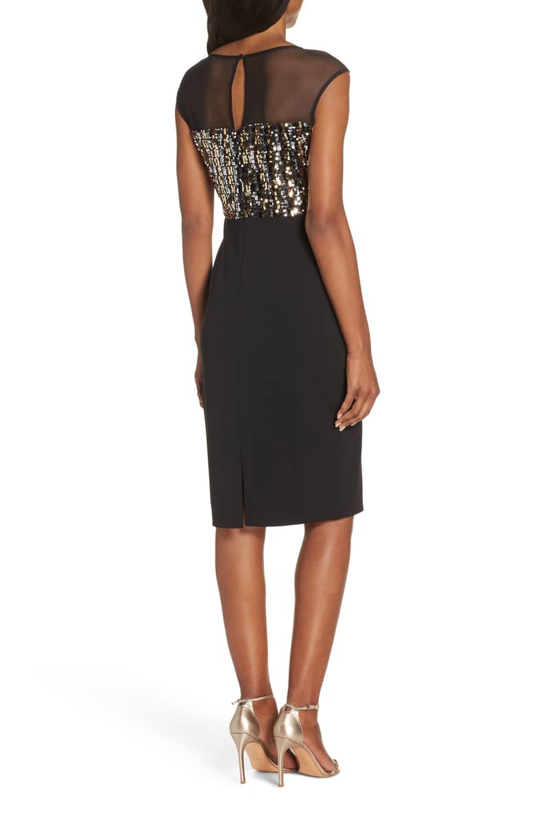 54963fe000f VINCE CAMUTO Metallic Sequin Body-Con Black Dress - We Select Dresses