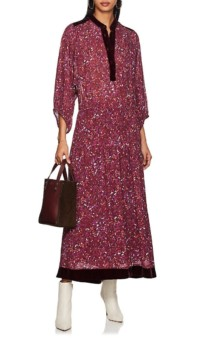 WARM Abstract-Floral Chiffon Shirt Multicolored Dress