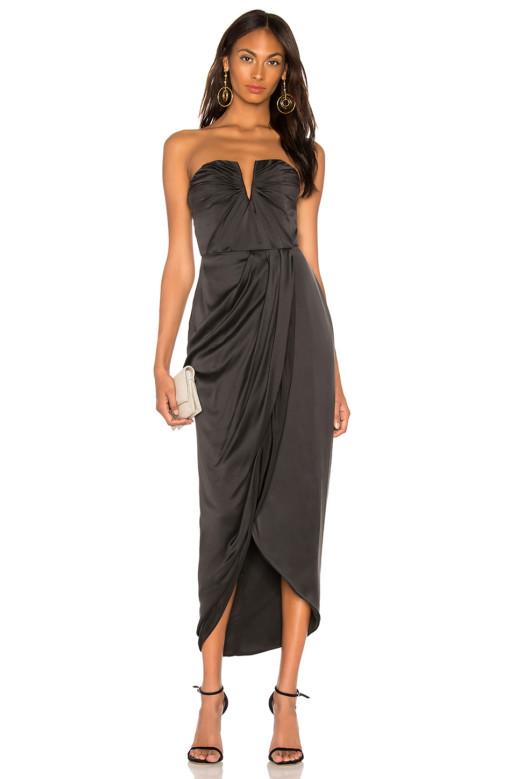 YUMI KIM Bombshell Maxi Black Dress