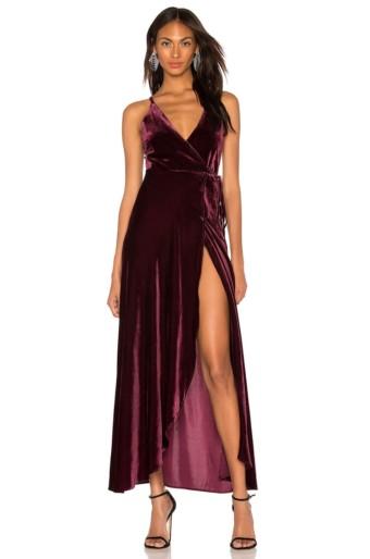 YUMI KIM Rush Hour Velvet Maxi Dress