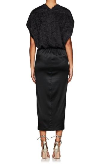 ZERO + MARIA CORNEJO Aki Silk Fil Coupé Fitted Wrap Black Dress